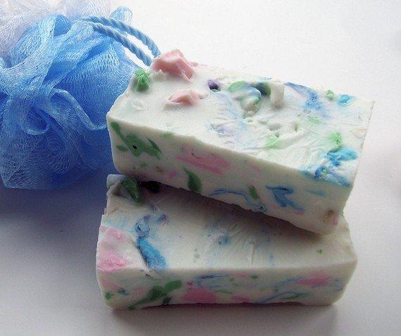 Цветное мыло из обмылков
