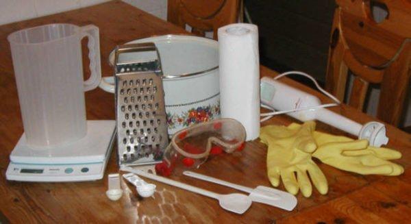 Инструменты и приспособления для мыловарения