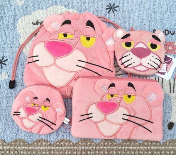 Набор сумочек в виде розовой кошки