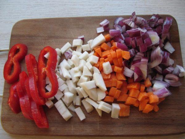 Овощи для лагмана