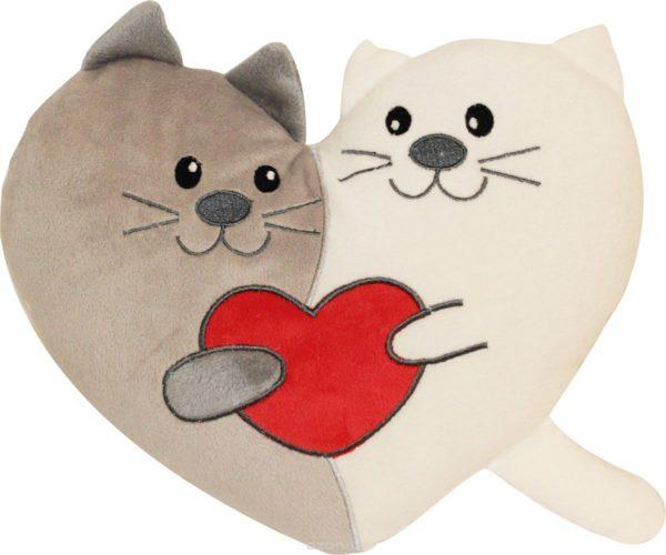 Подушка-сердце из котов