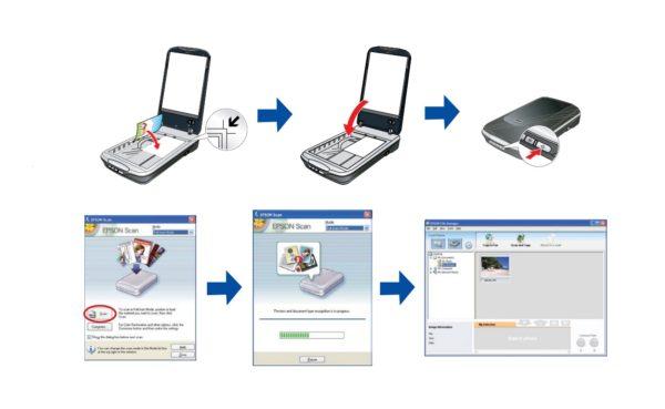 Пробное сканирование на планшетном устройстве