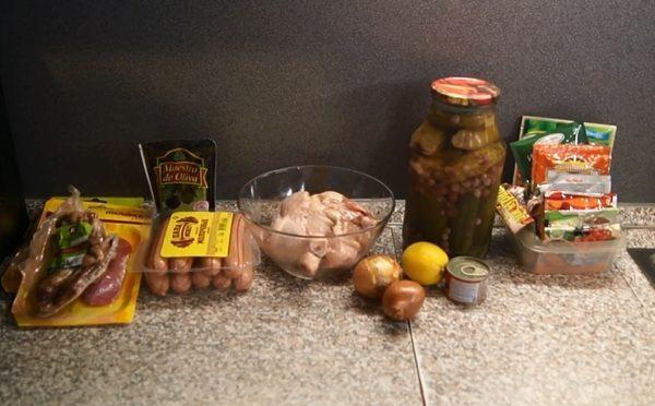 Продукты для приготовления солянки