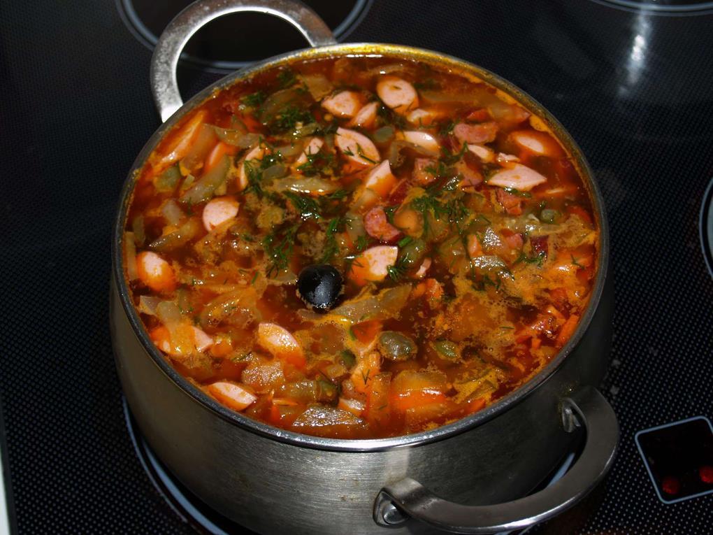 одной приготовить суп солянку пошаговый рецепт с фото чтобы было