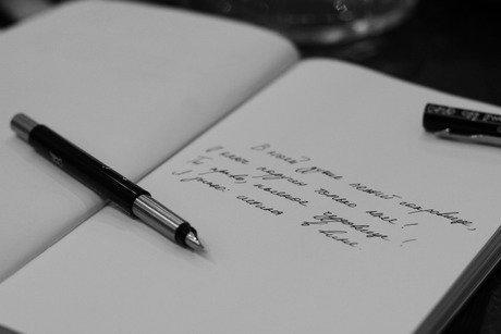 Стихотворение в блокноте