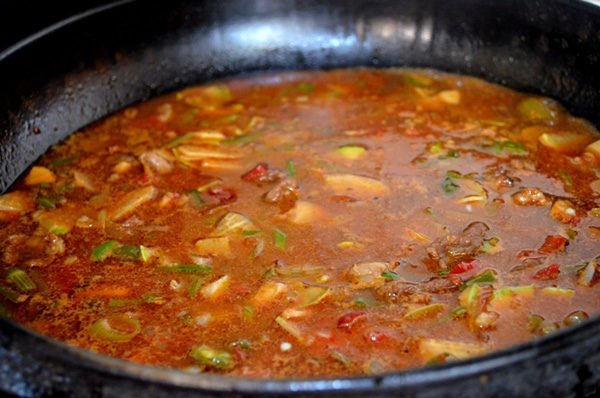 Варка соуса с картофелем