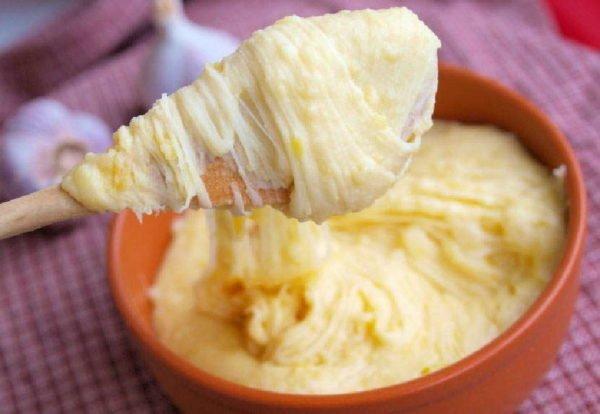 Картофельное пюре и пармезан