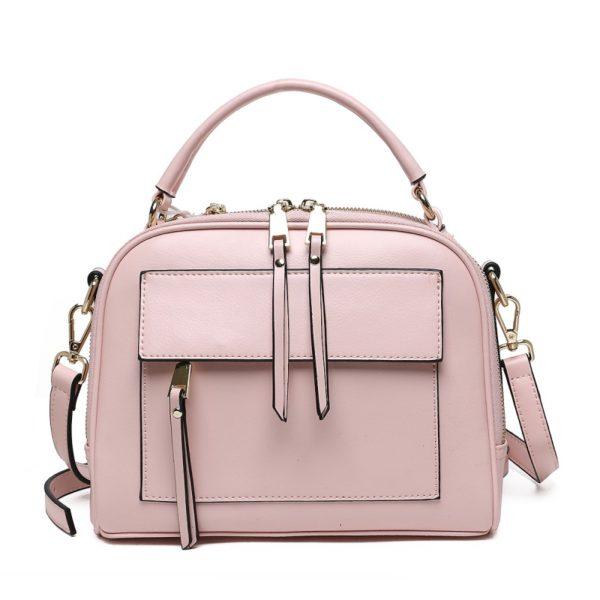 Женская сумка розового цвета