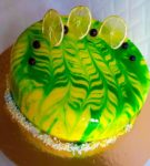 Торт в жёлто-зелёных тонах