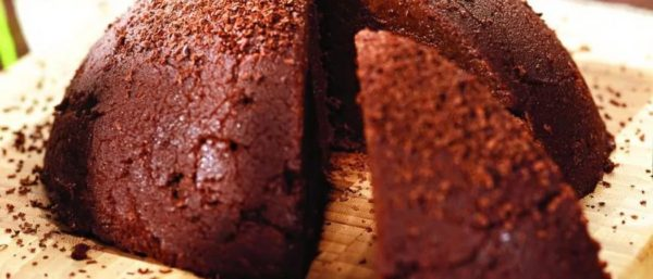 Готовое шоколадное суфле с манкой