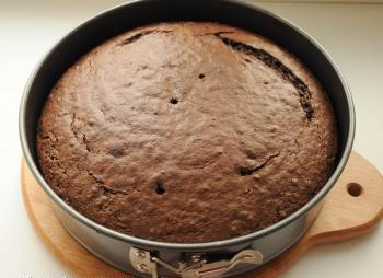 Готовый пирог в форме