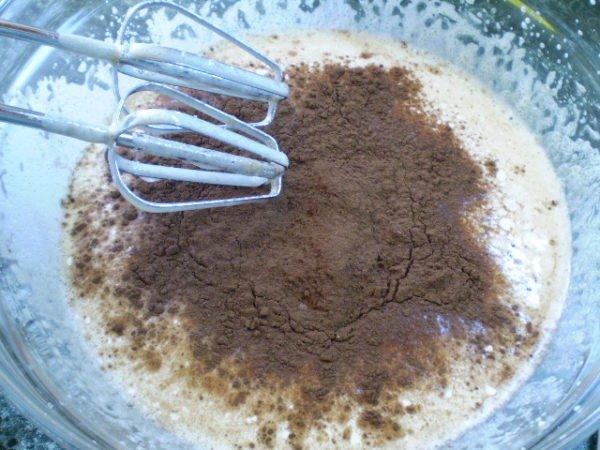 какао в тесте