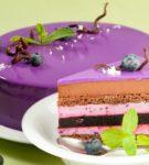 Муссовый торт и его ломтик