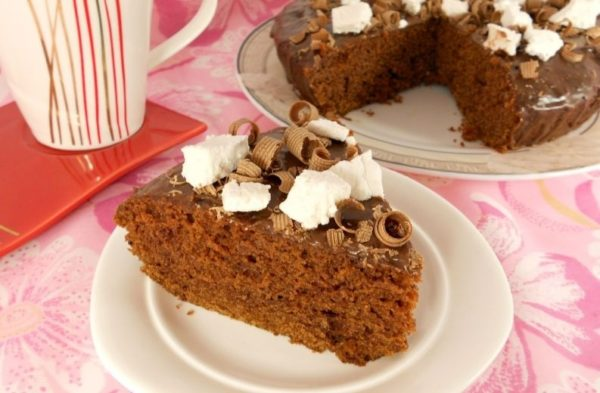 Пирог шоколадный без яиц