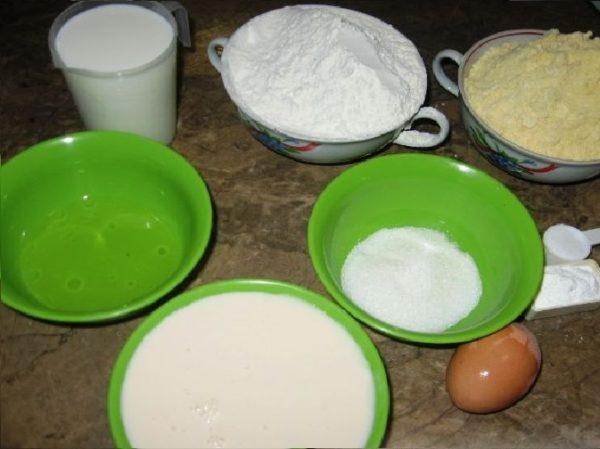 Продукты для кукурузного хлеба