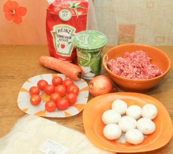 продукты для лазаньи