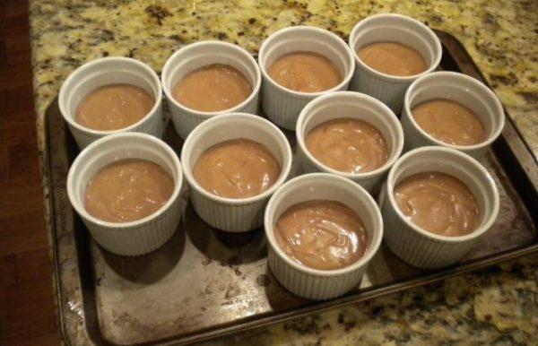 Суфле шоколадное в форме для приготовления