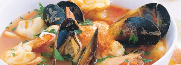 рецепт супа с рыбой и морепродуктами