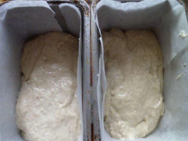 Тесто в формах
