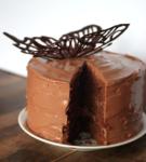 торт с бабочкой