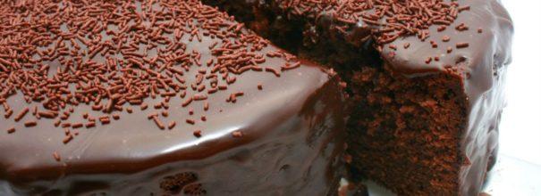 влажный шоколадный пирог