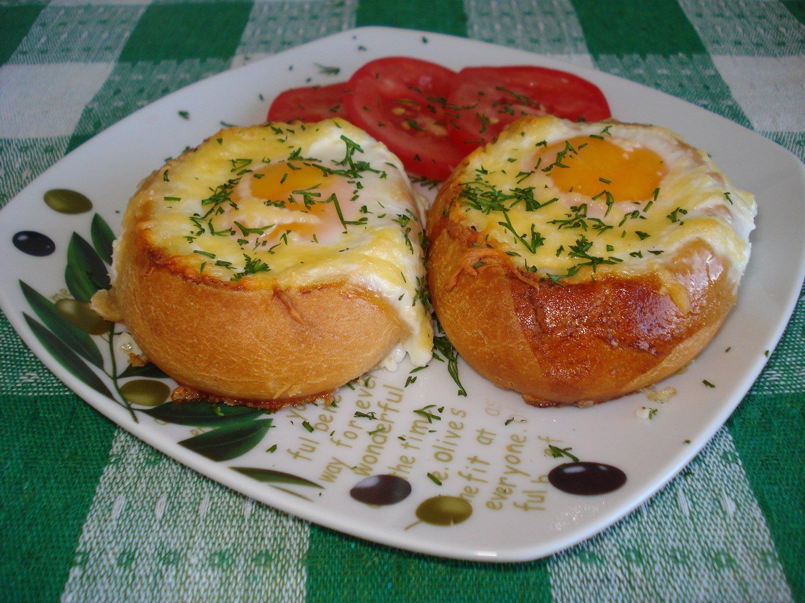 Яйцо на белом хлебе рецепт пошагово 55