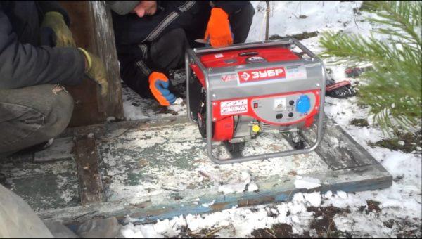 Запуск генератора в мороз