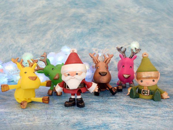 Новогодние сувениры, распечатанные на 3D-принтере