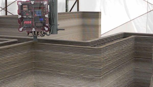 Объёмная печать при строительстве дома