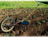 Окучник из велосипедного колеса