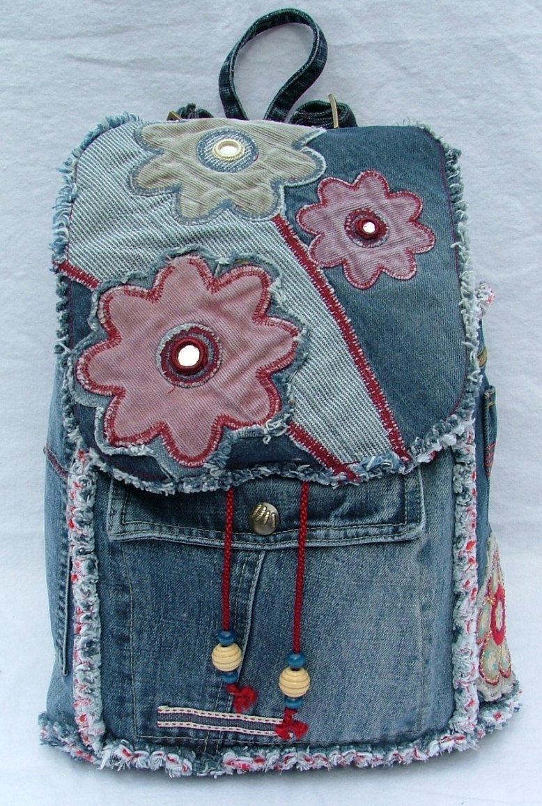 Как сшить из старых джинс рюкзак для детей
