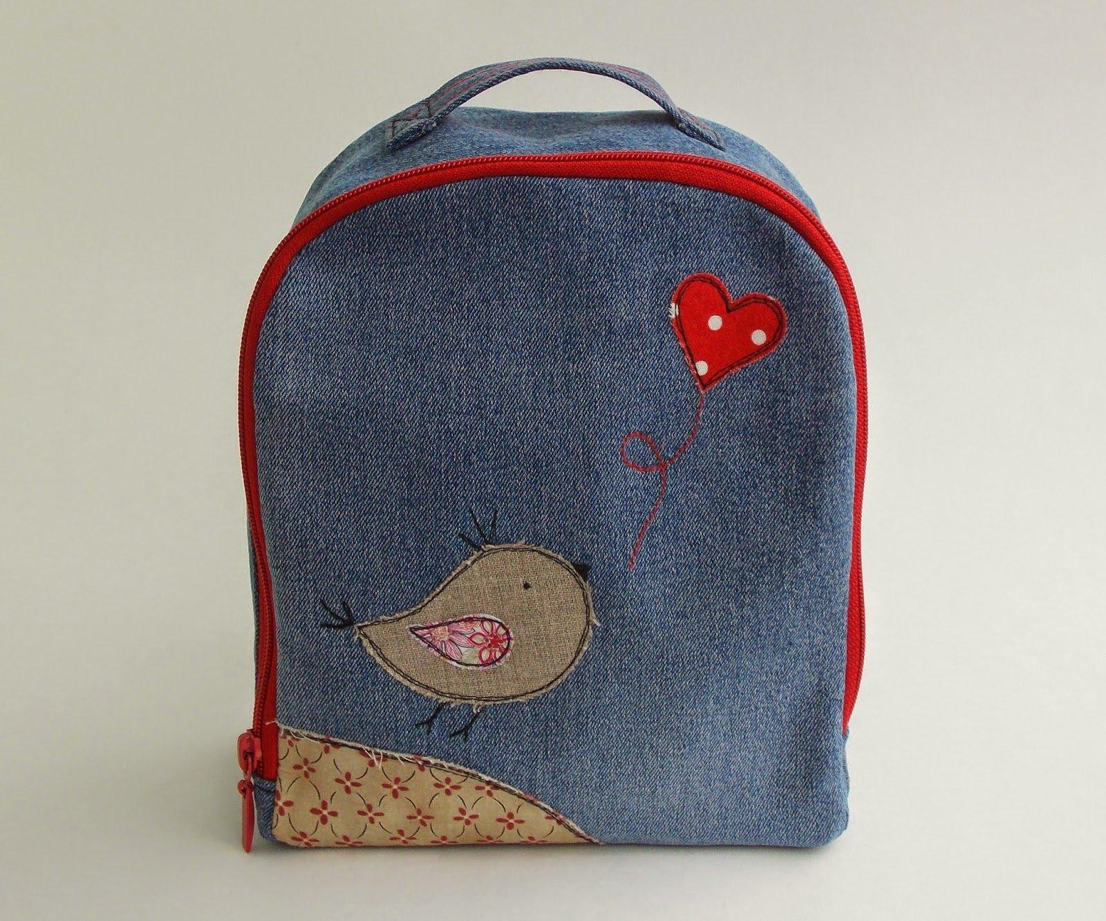 ad9198424f9f Как сшить рюкзак из старых джинсов своими руками (в том числе детский):  выкройки, видео и пр. ]]