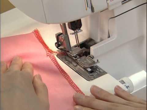 Обработка швов оверлоком