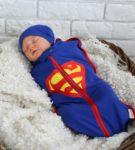 Пелёнка-кокон «Супермен»