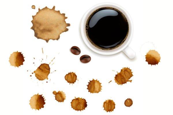 Пятна кофе
