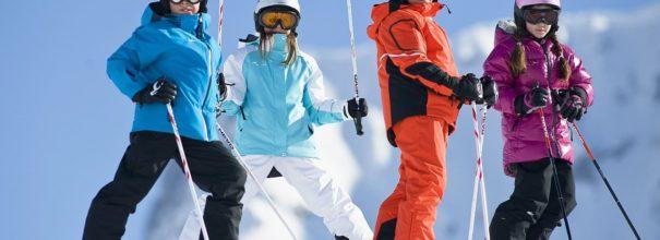 Ребёнок на лыжах