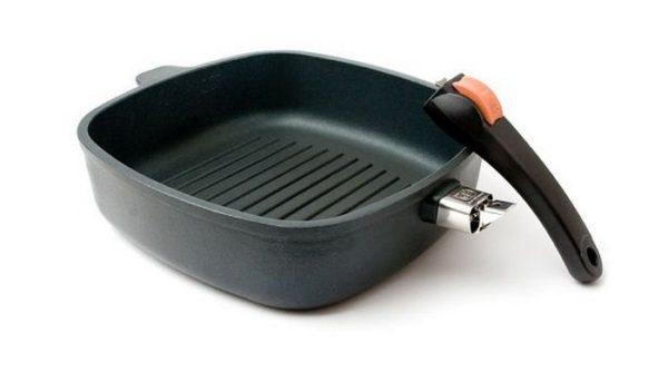Сковорода-гриль со съёмной ручкой
