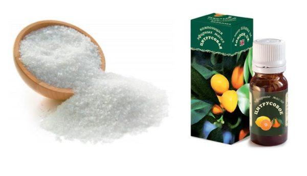 Соль и эфирное масло