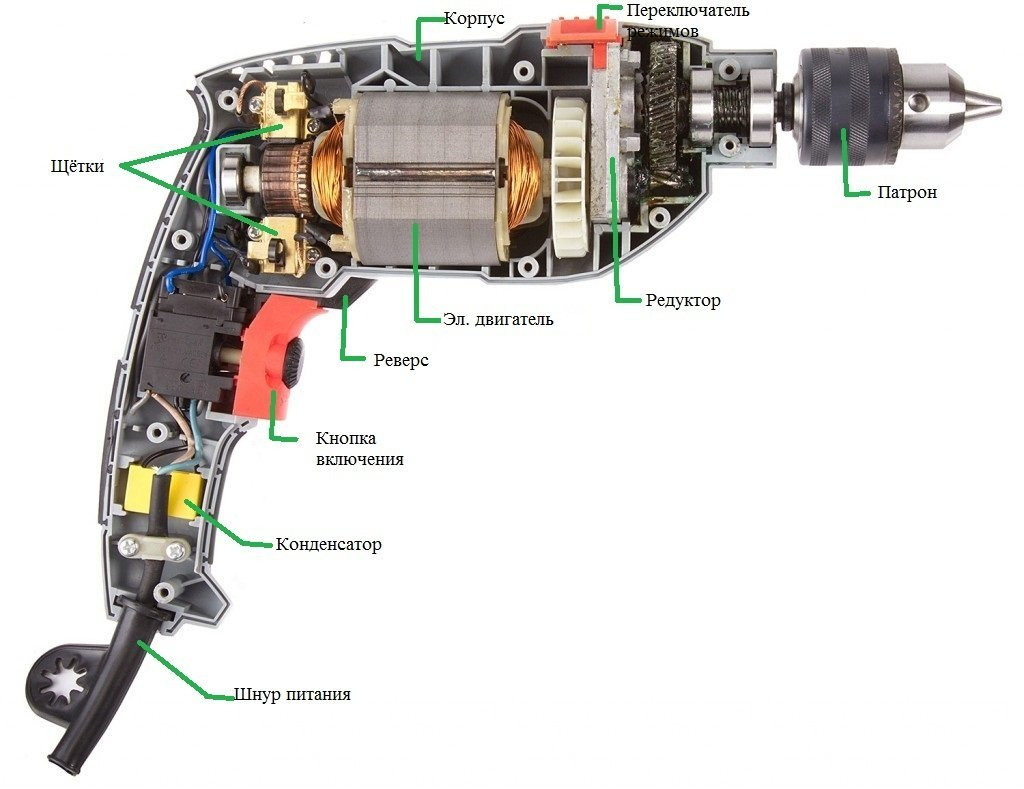 Схема подключения дрели без реверса фото 29