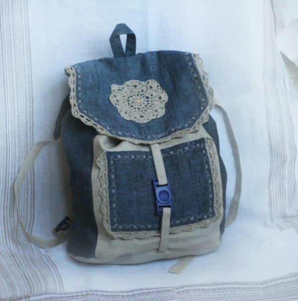 e6686aaa72af Как сшить рюкзак из старых джинсов своими руками (в том числе ...