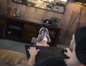 телевизор с клавиатурой и мышью
