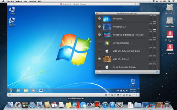 Виртуализация Windows на Mac