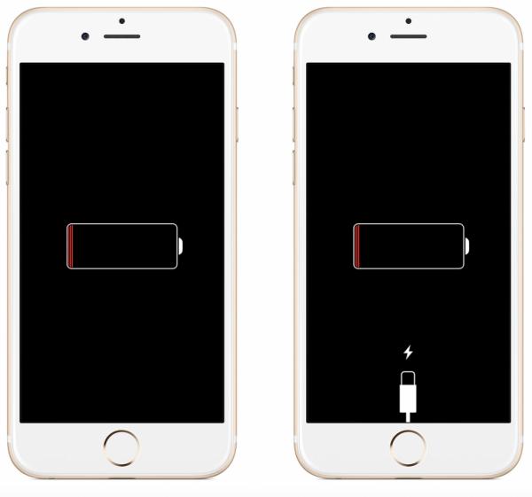 Два разряженных iPhone