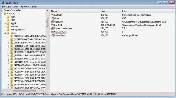 Правка ветки реестра, отвечающей за USB-контроллеры