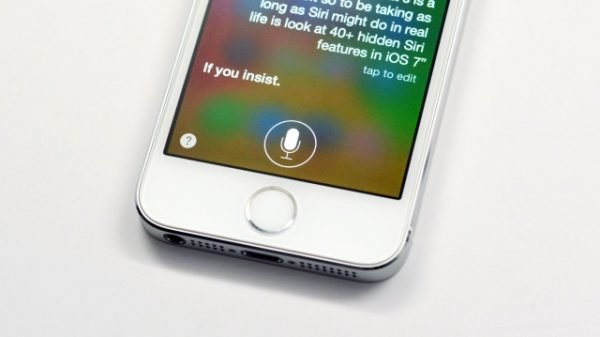 Apple iPhone with Siri enabled
