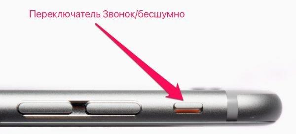 Беззвучный режим на iPhone