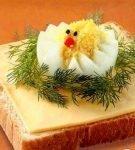 Бутерброд с яйцом, укропом и сыром
