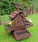 Декоративная деревянная мельница