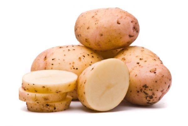 Клубни картофеля разрезанные