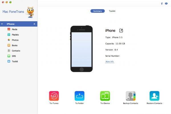 Приложение Mac FoneTrans